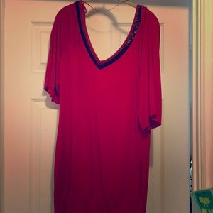 Guess red with black accent minidress